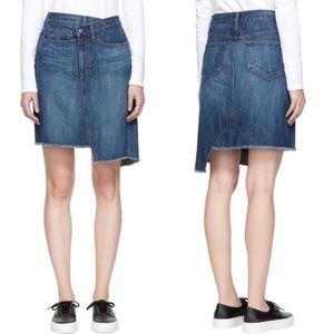 Earnest Sewn Denim Tammy Jean Raw Hem Skirt Frayed
